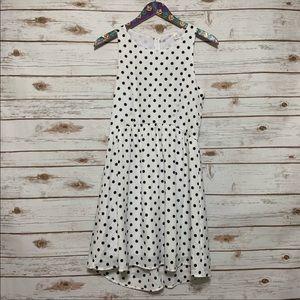 Tic Toc White and Black Polka Dot Dress